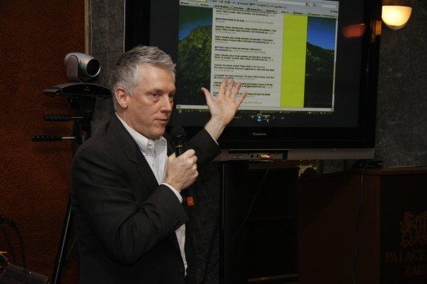 Mathison presenting