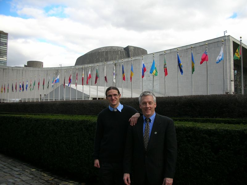 David and Andrzej at the UN